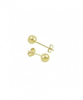 Yellow Filled Round Earrings Pushback