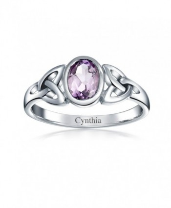 Bling Jewelry Triquetra Amethyst Sterling