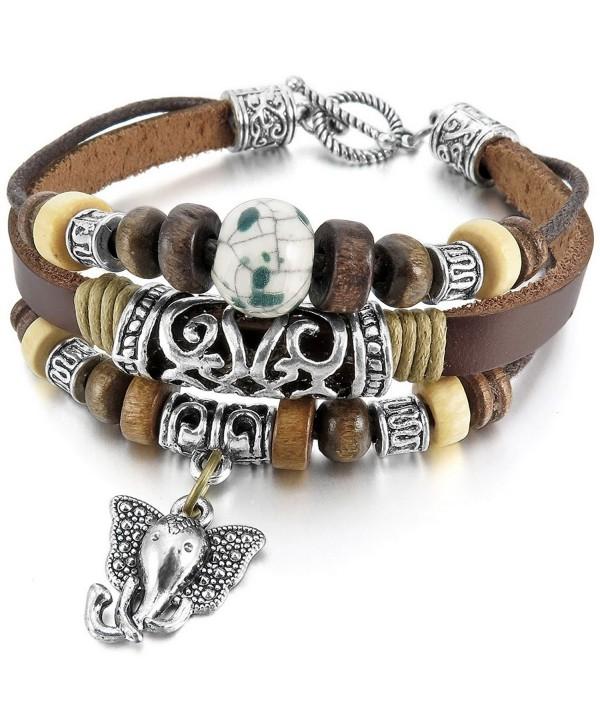 INBLUE Ceramic Bracelet Elephant Embossed - CA11ZY47BAP