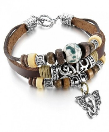INBLUE Ceramic Bracelet Elephant Embossed