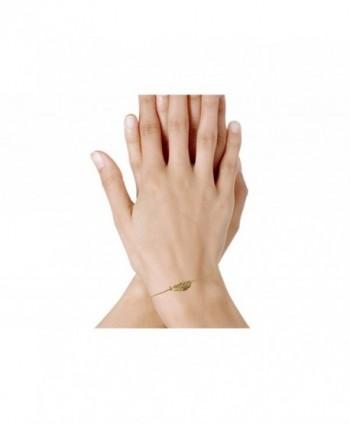 Poulettes Jewels Plated Bracelet Feather