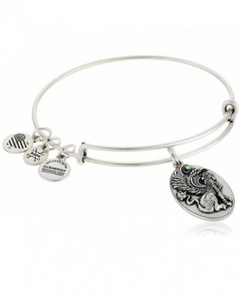 "Alex and Ani ""Path of Symbols"" Sphinx Expandable Wire Bangle Charm Bracelet - Rafaelian Silver - CX12MDDZWDN"