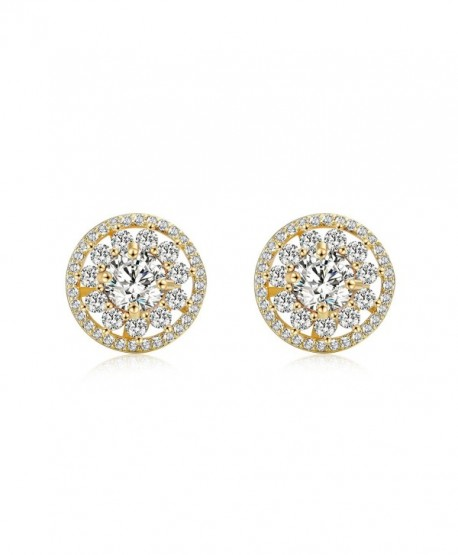 OSIANA Womens Dangle Stud Hoop Earrings with CZ Crystal Water Drop Earrings - Stud Gold - CQ182MNLQAG