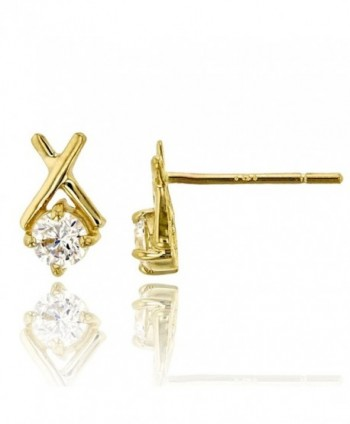 14K Yellow Gold Polished 3mm Rd XO Stud Earring - CN1854WED0Y