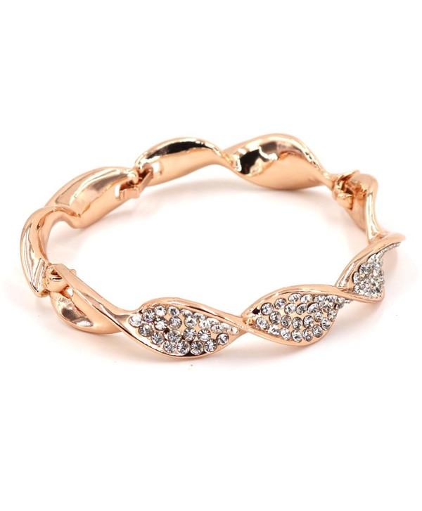 FIFLION Cuff Female Bracelets Friendshion Handcuffs Bangles Jewelry Women Crystal Bracelet - CP1803AAGST