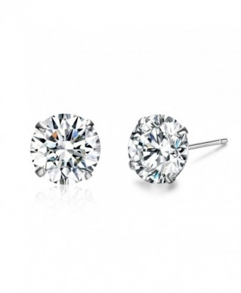 SBLING Platinum Plated Sterling Silver Stud Earrings Made with Swarovski Crystals - C11293BID9D