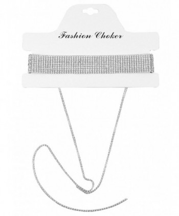 Glamaker Diamond Rhinestone Necklace Pendant in Women's Choker Necklaces
