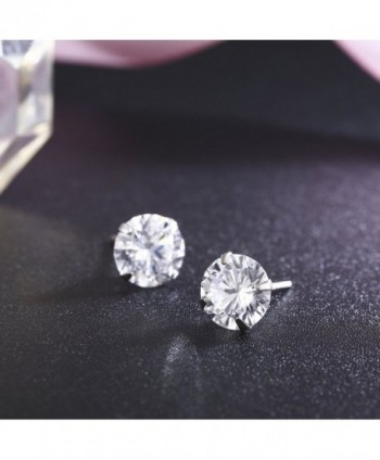 SBLING Platinum Sterling Earrings Swarovski in Women's Stud Earrings
