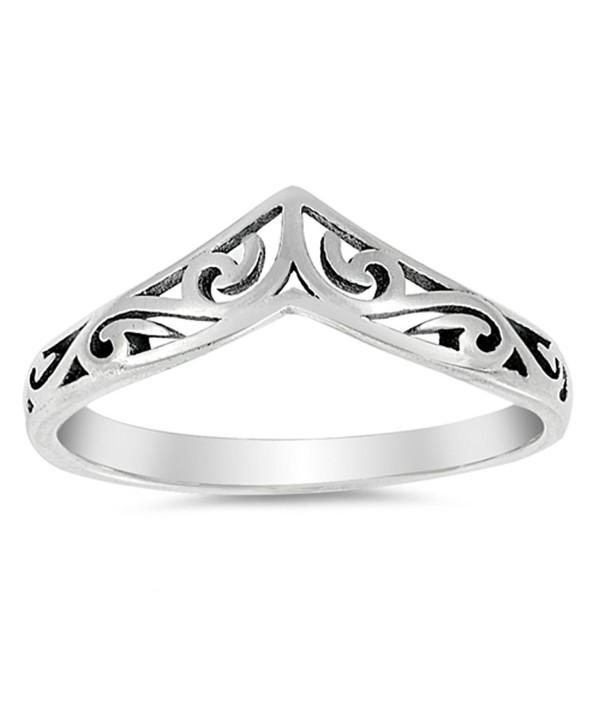 d9ef7b196 Filigree Celtic Chevron Thumb Ring 925 Sterling Silver Victorian Band Sizes  3-12 - CS17AAOL4X8