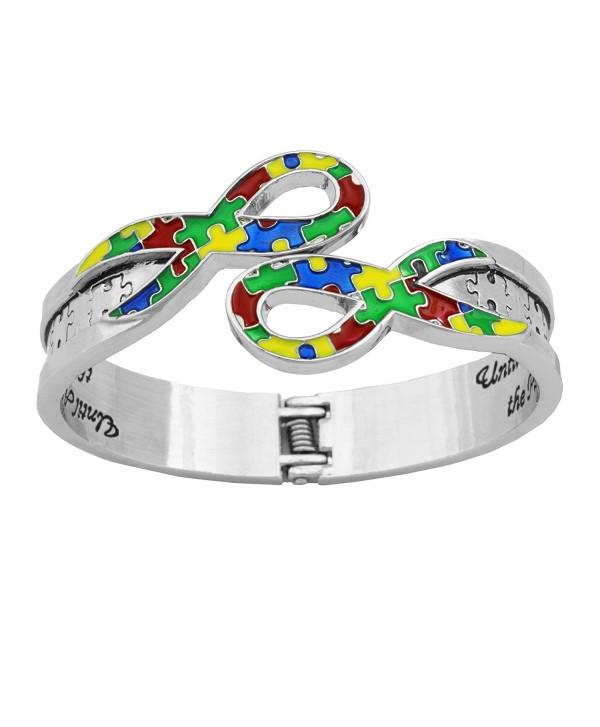 Until All the Pieces Fit Autism Awareness Ribbon Bracelet - CS124E4NRQ3