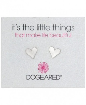 "Dogeared ""It's the Little Things"" Heart Post Earrings - silver - CB118SWT51J"