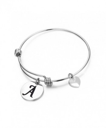 MAOFAED Initial Bracelet Letter Bracelet Personalized Jewelry Hand Stamped Jewelry - A-2 - CY1847W63HG