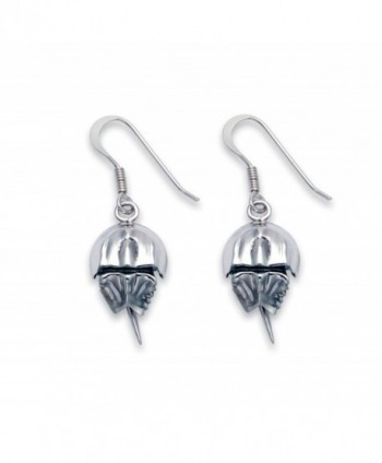 Sterling Silver Horseshoe Crab Wire Earrings - CE11C33FEHN
