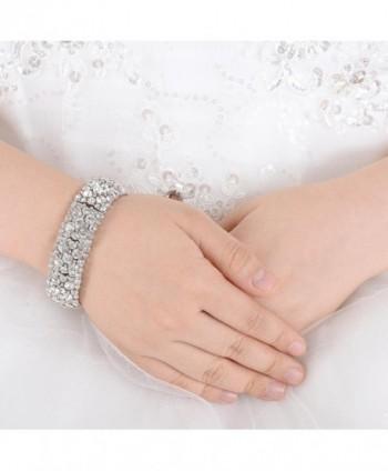 EVER FAITH Bracelet Austrian Silver Tone in Women's Bangle Bracelets