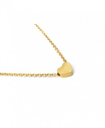 41a9be7563f84 Simple Heart Necklace for Her- Pendant Love Choker (Gold- Silver- Rose  Gold) - Rose Gold - C71884Y08EH