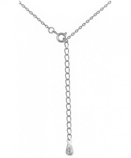 Silver Sideways PETITE Cross Pendant Necklace .925 Sterling Silver Religious Women's Charm Jewelry Box - CL11BL26U93