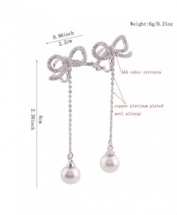 Platinum Bowknot Earrings Without Piercing