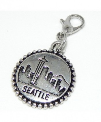 "Pro Jewelry Dangling ""Seattle"" Clip-on Bead for Chain Link Charm Bracelets - CO11Q20MAAZ"