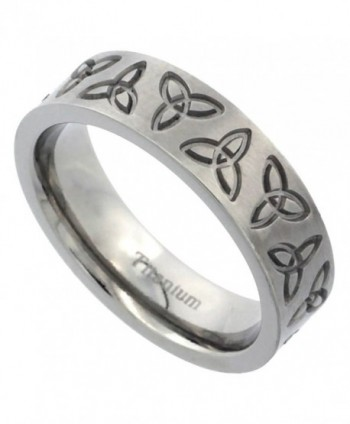 Titanium 6mm Wedding Band Triquetra Ring Celtic Trinity Flat Brushed Comfort Fit- sizes 7 - 14 - CS118D9VJNT