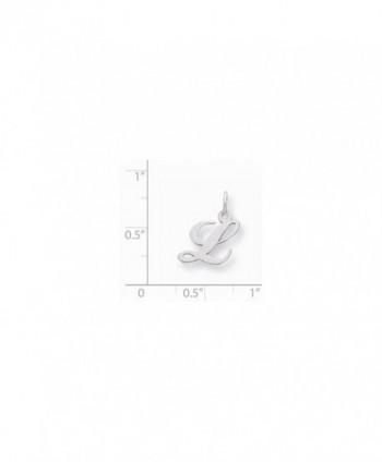 Sterling Silver Small Fancy Script Initial L Charm (0.6IN long x 0.5IN wide) - CD119CBKC3P