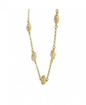 Crystaluxe Necklace Swarovski Crystals Gold Bonded