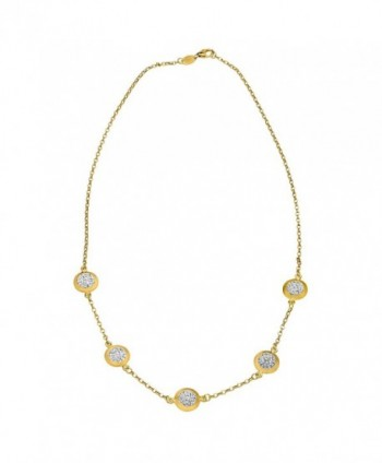 Crystaluxe Necklace Swarovski Crystals Gold Bonded in Women's Collar Necklaces