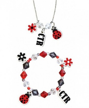 "Necklace & Bracelet Sets ""Ladybug"" - JNC026 - CS11CLWYKE9"