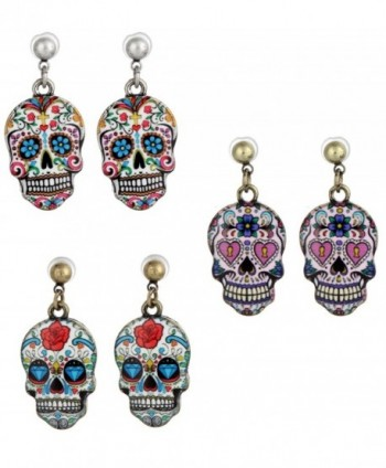 Sugar Skull- Day Of The Dead Earrings- 3 Sets - CB12LNLEYD5