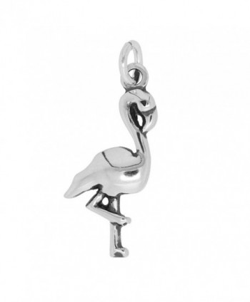 Sterling Silver Polished Flamingo Charm (Approximately 22 x 10 mm) - CX11JP8FE0B