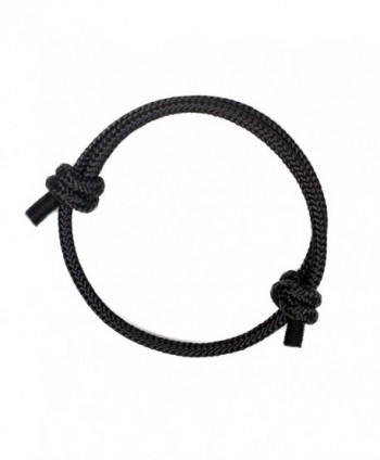 Highest Quality Stylish Nautical Rope Bracelet for Women - Black pearl - C41889QI6L5