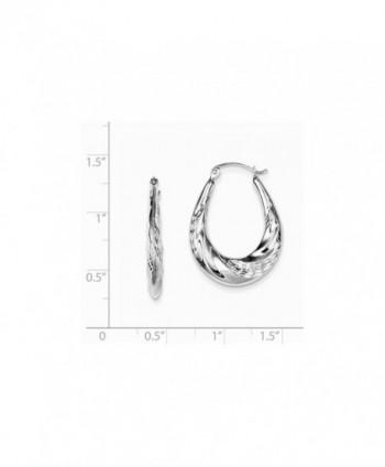 Sterling Silver Diamond Scalloped Earrings