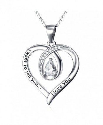 Angel caller Engraved Infinity Necklace - C212N7CLFV9