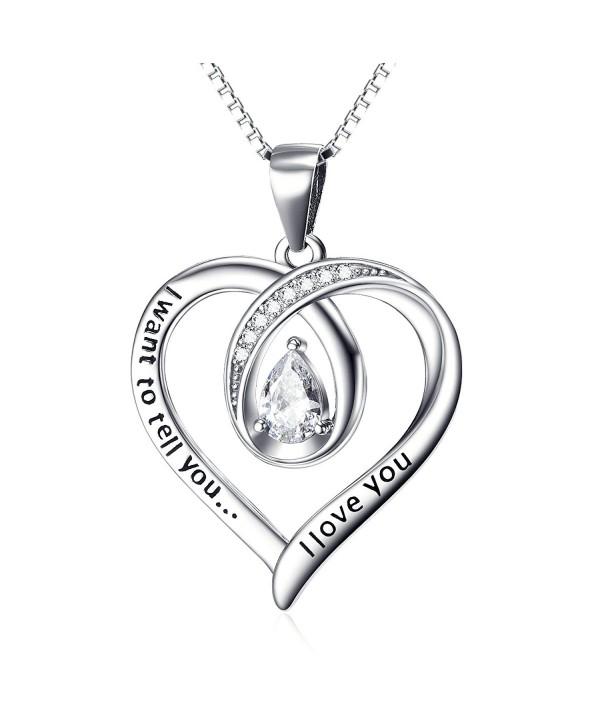 Angel caller Engraved Infinity Necklace - C212N7CLFV9
