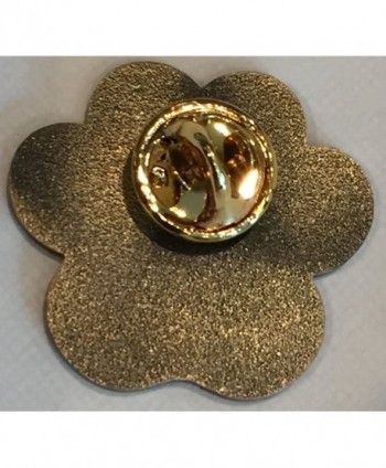 "Dog Mom Paw Print Heart Lapel Pin 1 1/16"" Antique Brass - C512H55VFHL"