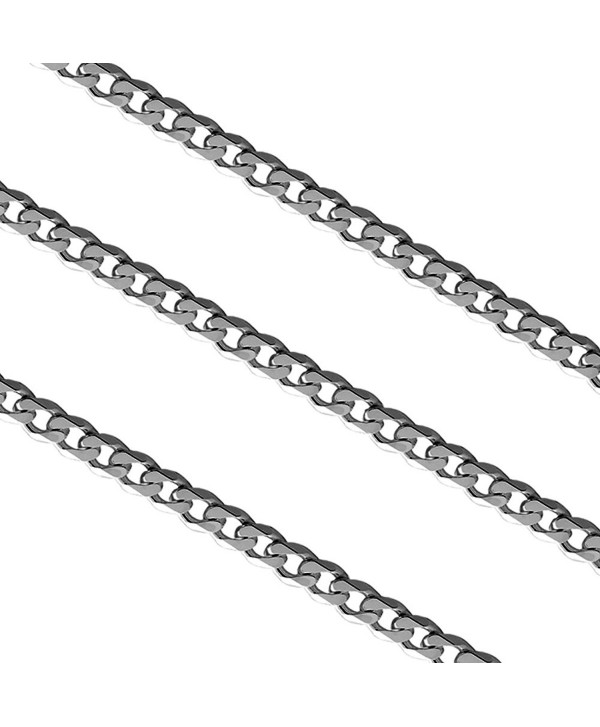 2.8mm Stainless Steel Curb Link Chain Necklace - C9129PA4AAP