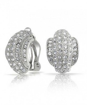 Bling Jewelry Crystal Earrings Rhodium