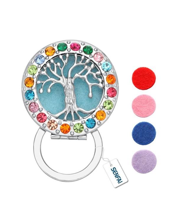SENFAI Tree Colorful Crystal Magnet Eyeglass Holder Brooch and Pin(Perfume cotton or Luminous film) - C812O43BE8B