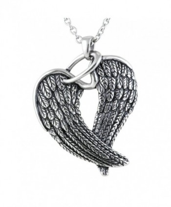 "Controse Women's Silver-Toned Stainless Steel Steel Wings and Halo Necklace 28"" - CO12GK5DNDV"