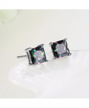 Plated Multicolor Zirconia Earrings Jewelry