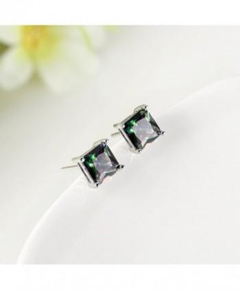 Plated Multicolor Zirconia Earrings Jewelry in Women's Stud Earrings