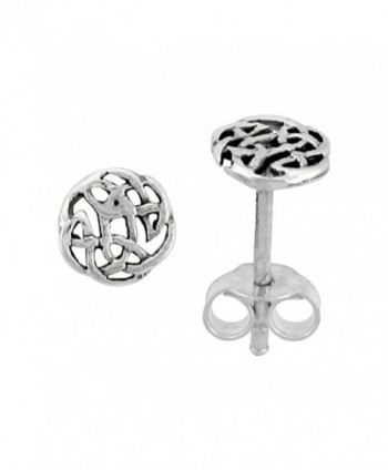 Sterling Silver Celtic Knot Stud Earrings- 1/4 inch - C9111VPMYFT