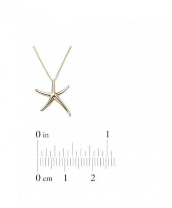 Starfish Necklace Sterling Celebrity Designer