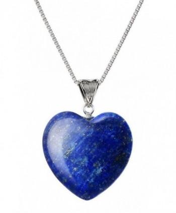 Sterling Gemstone Pendant Necklace NK18GP16 - Lapis Lazuli - CR1885MAO8L