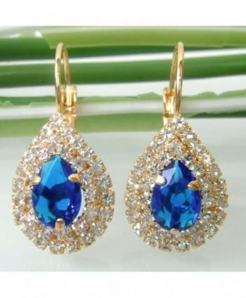 Navachi Crystal Az2678e leverback Earrings