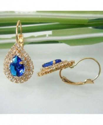 Navachi Crystal Az2678e leverback Earrings in Women's Hoop Earrings