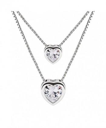 B Catcher Necklace Sterling Zirconia Valentines - CQ187W93A0L