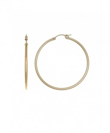 14k Yellow Gold Filled 48 mm Hoop Earrings Light Weight - CP186OO2GLQ