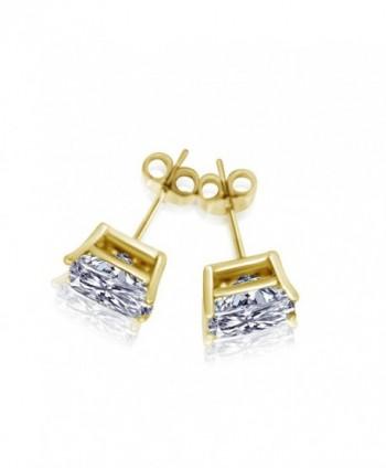 Princess Earrings Sterling Silver Zirconia