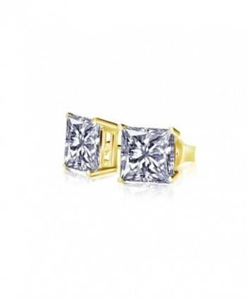 Princess Earrings Sterling Silver Zirconia in Women's Stud Earrings