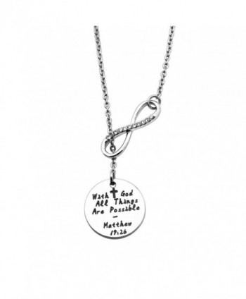 WUSUANED Possible Infinity Religious Inspirational - Infinity disc necklace - CH1882N4559